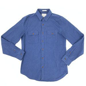Lucky Brand Cotton Pinstripe Button Down M